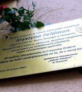 10. rocznica śmierci Krystyny Feldman