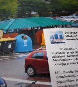 Protest przeciwko nowym zasadom o odpadach komunalnych