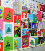 """Wernisaż wystawy: """"Moja Kartka Bożonarodzeniowa""""."""