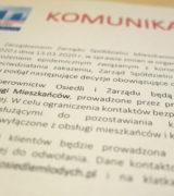 Zmiany w organizacji pracy w Spółdzielni w związku z koronawirusem